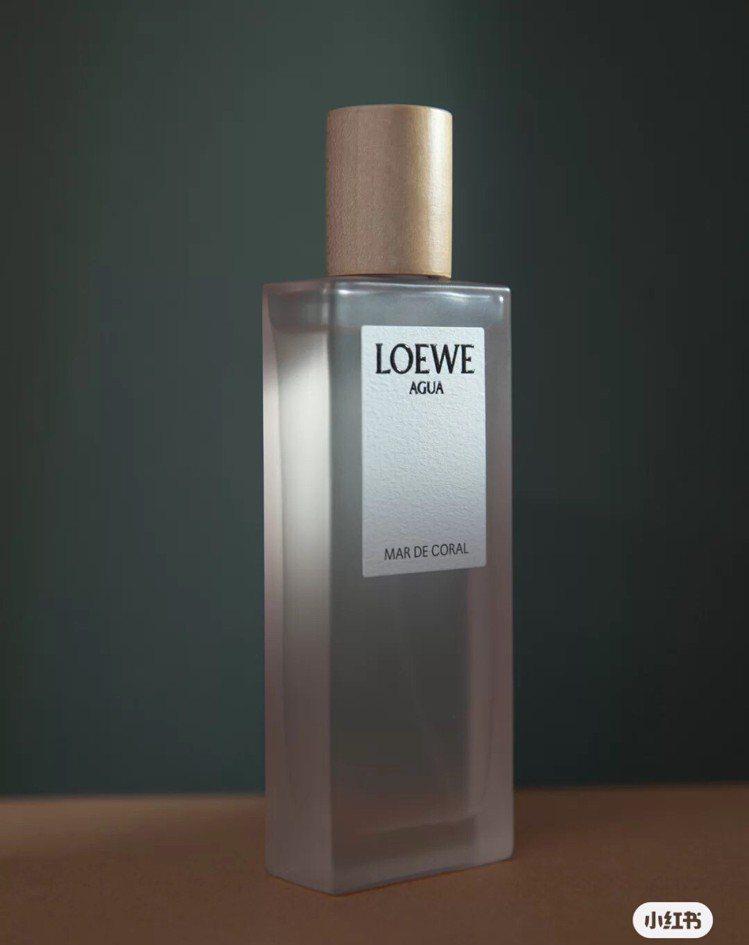 LOEWE AGUA Mar De Coral粉色珊瑚海淡香水。圖/取自小紅書
