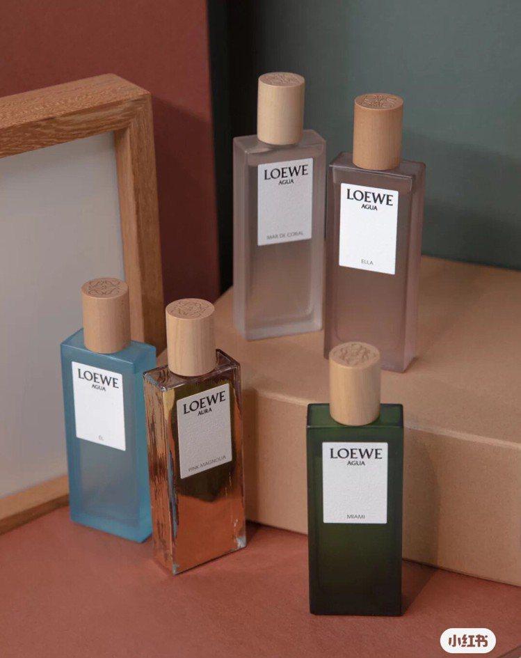 LOEWE推出彩虹系列(Rainbow Collection)香水。圖/取自小紅...