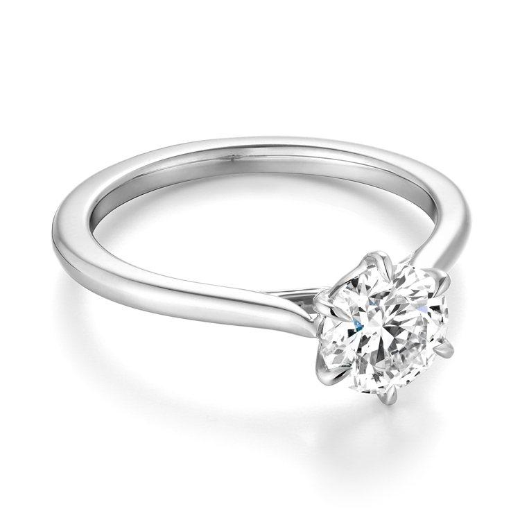 HEARTS ON FIRE CAMILLA鉑金鑽石戒指,主鑽0.30克拉起,1...