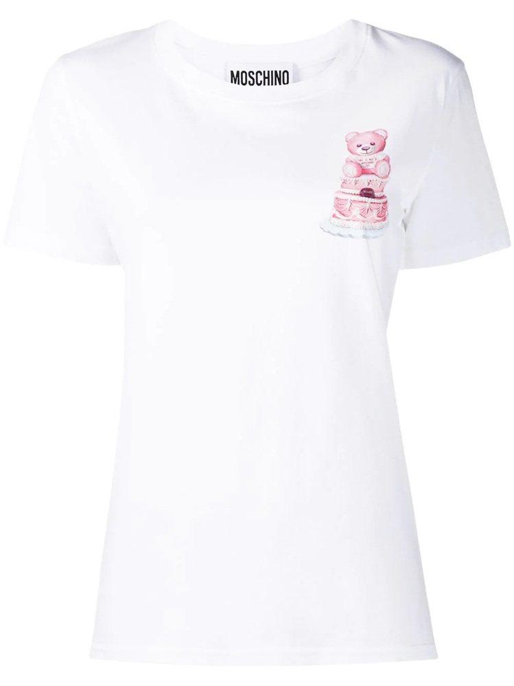 蛋糕熊T恤,9,800元。圖/MOSCHINO提供