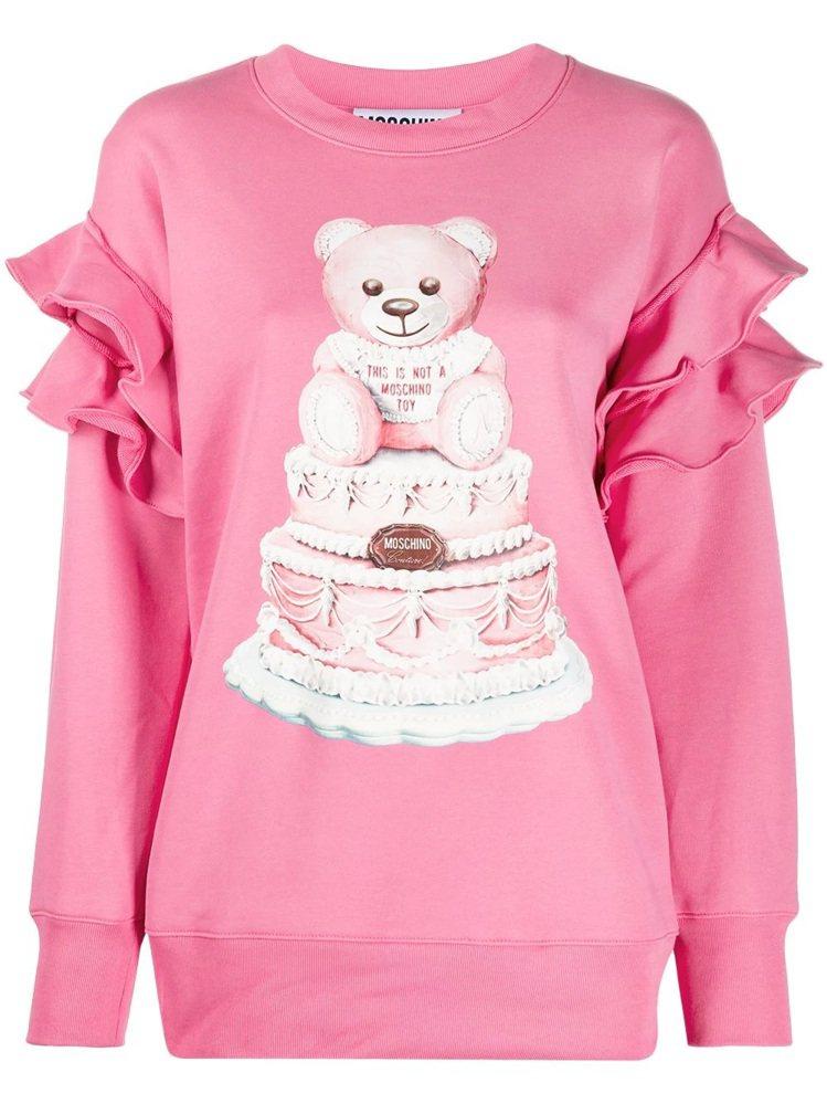 荷葉邊蛋糕熊上衣,27,800元。圖/MOSCHINO提供