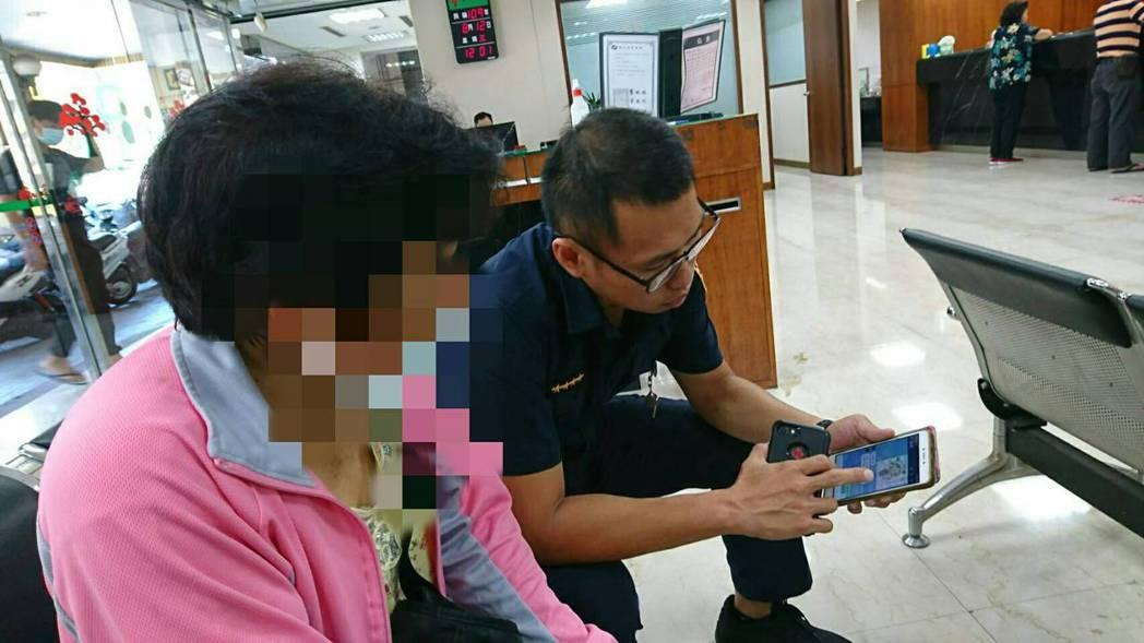 台南市中年婦人(左),差點遭到電信詐騙。記者黃宣翰/翻攝