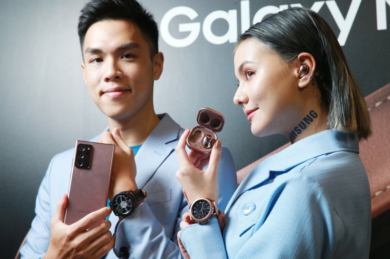 Samsung Galaxy Note20 5G旗艦系列搭配強大的Galaxy行動裝置生態圈,打造完美無縫生活。記者許正宏/攝影