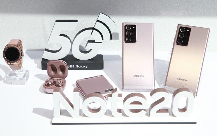 Samsung Galaxy Note20 5G旗艦系列為三星的5G手機陣容再添...