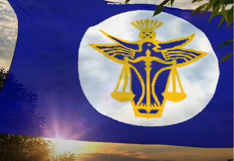 赫特河公國國旗。圖/擷取自YouTube