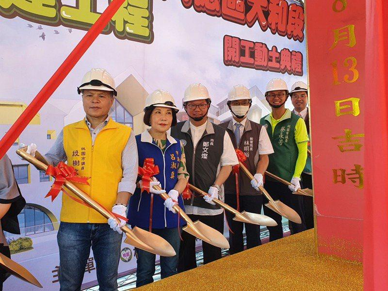 大和非營利幼兒園舉行新建工程昨動土,預計明年6月竣工,明年9月招生182名幼生。記者陳夢茹/攝影