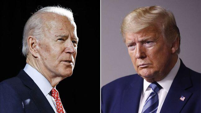 拜登(左)與川普(右)角逐美國總統寶座,投資人應提前對各種結果做好準備。圖/美聯...