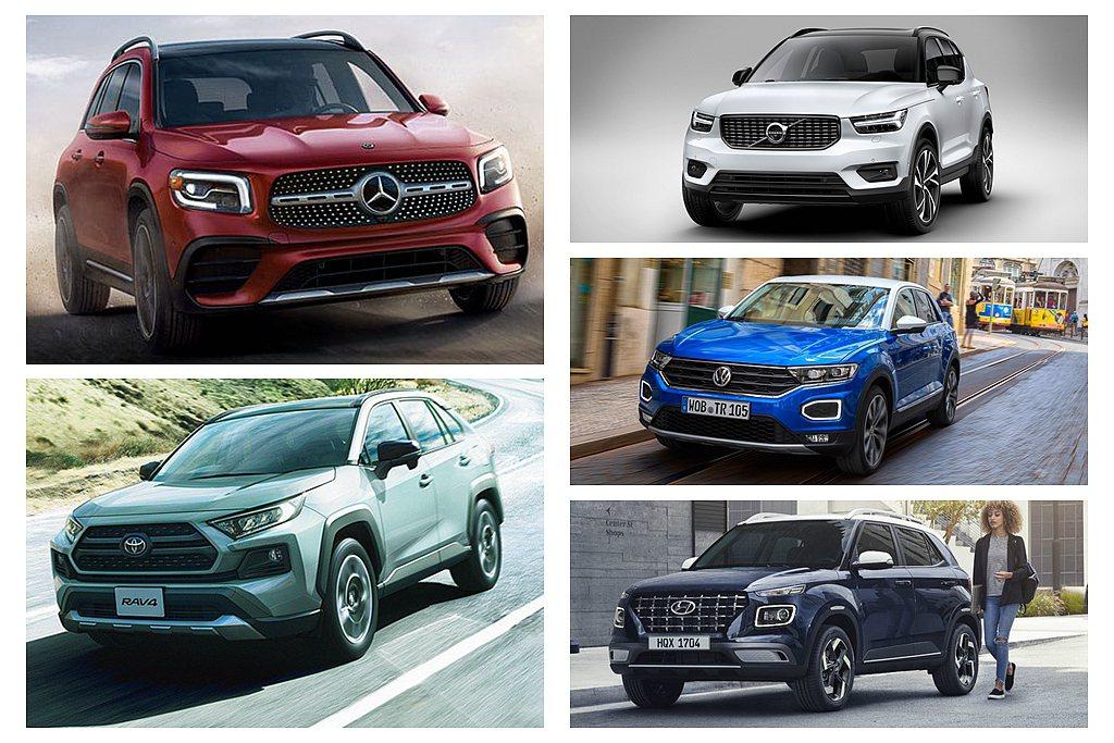 經濟部能源局7月新車耗能證明中,有多款新休旅現蹤。 圖/各車廠提供