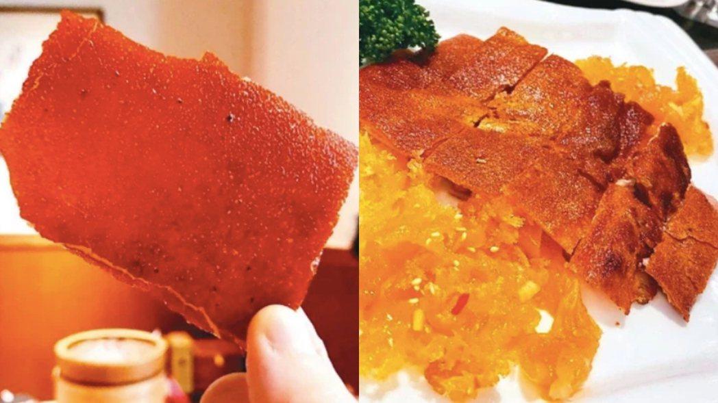 圖左是香港家全七福的烤乳豬是食家最愛;圖右是台灣有些粵菜餐廳的乳豬,因懶惰入鍋翻...