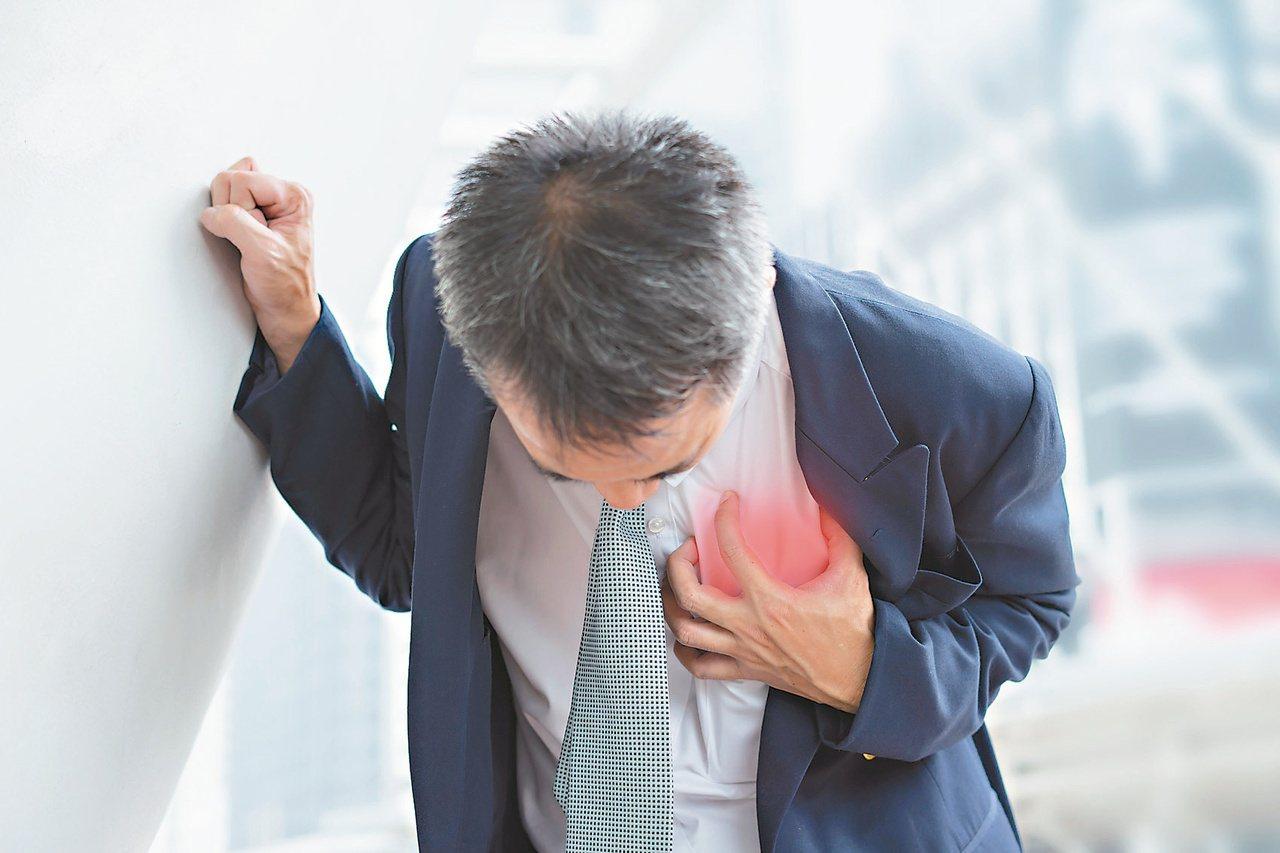 走路易喘,胸痛胸悶,恐為心臟衰竭。 圖/123RF