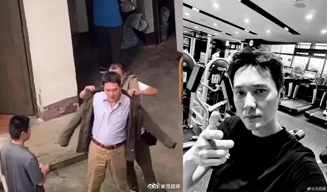馮紹峰日前被拍到拍攝現場有肚腩的模樣,13則曬出健身照片。圖/擷自微博