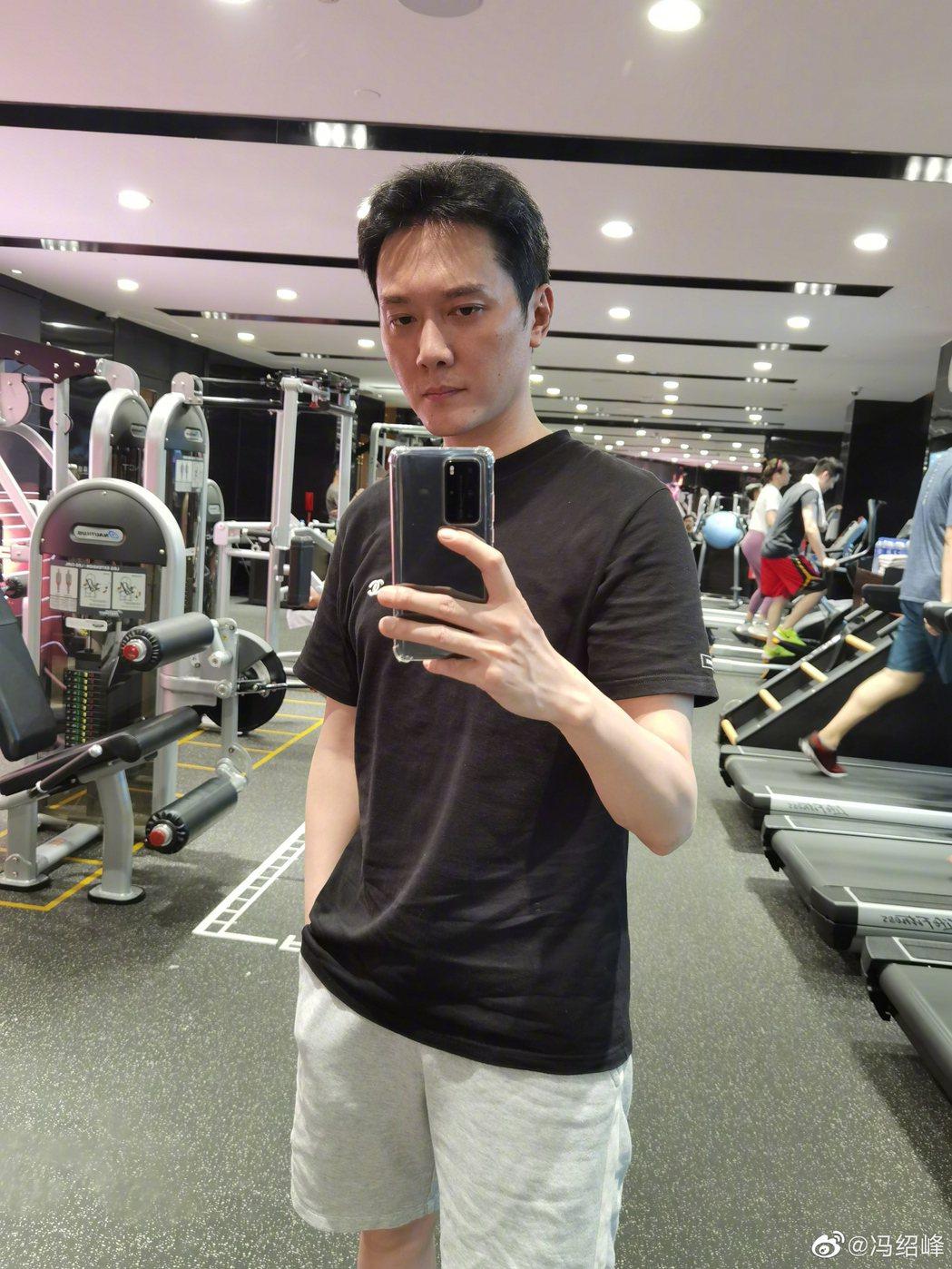 馮紹峰曬出健身照片。圖/擷自微博