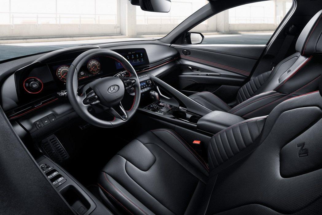 全新Hyundai Elantra/Avante N Line內裝。 摘自Hyu...