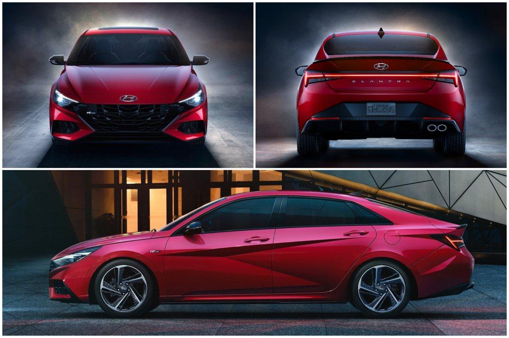 全新Elantra/Avante N Line。 摘自Hyundai