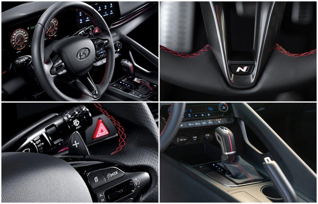 全新Hyundai Elantra/Avante N Line車內配有N款三輻式...