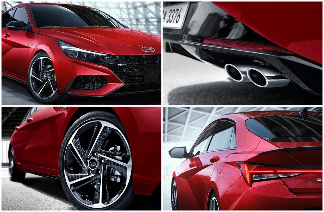 全新Hyundai Elantra/Avante N Line配有專屬18吋鋁圈...