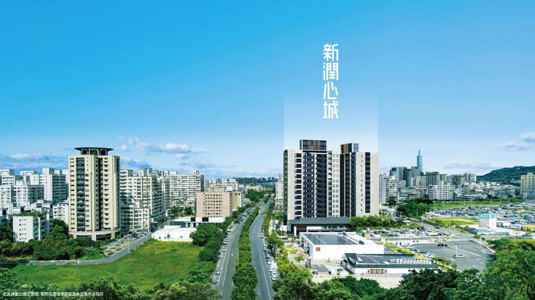 「新潤心城」位金城大道上。圖/新潤興業提供