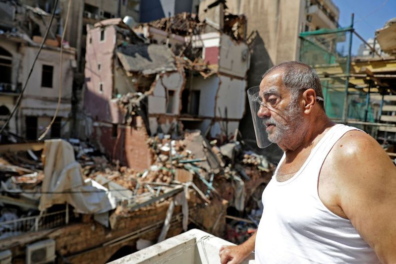 黎巴嫩首都貝魯特4日發生大爆炸意外。 法新社