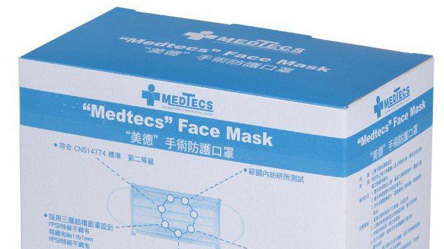 PChome 24h購物宣布將於8月15日晚上7點限量開賣美德二級手術防護口罩(...