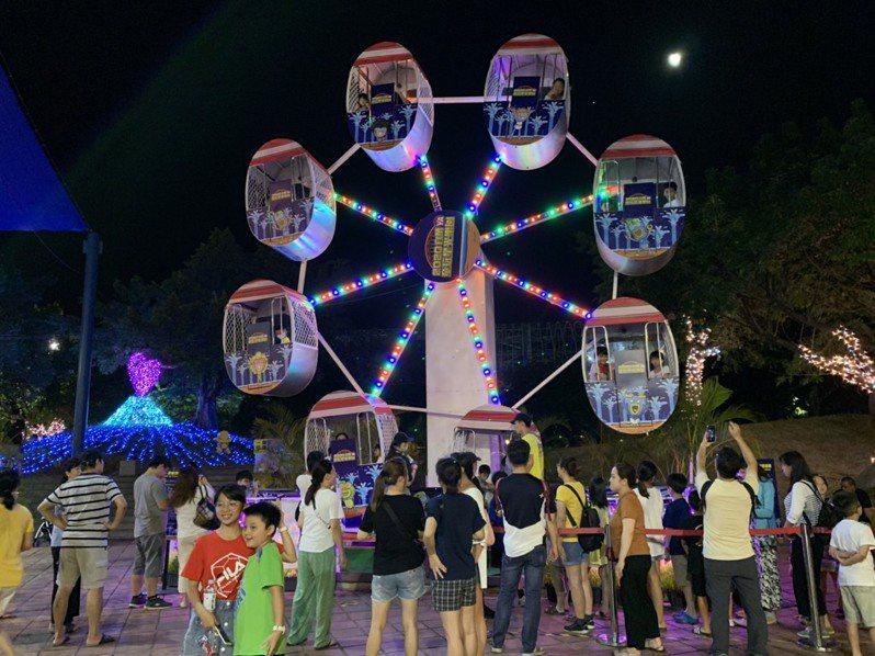 宜蘭童玩星光樂園在暑假期間推出,吸引不少大人小孩入園遊玩。記者王燕華/翻攝