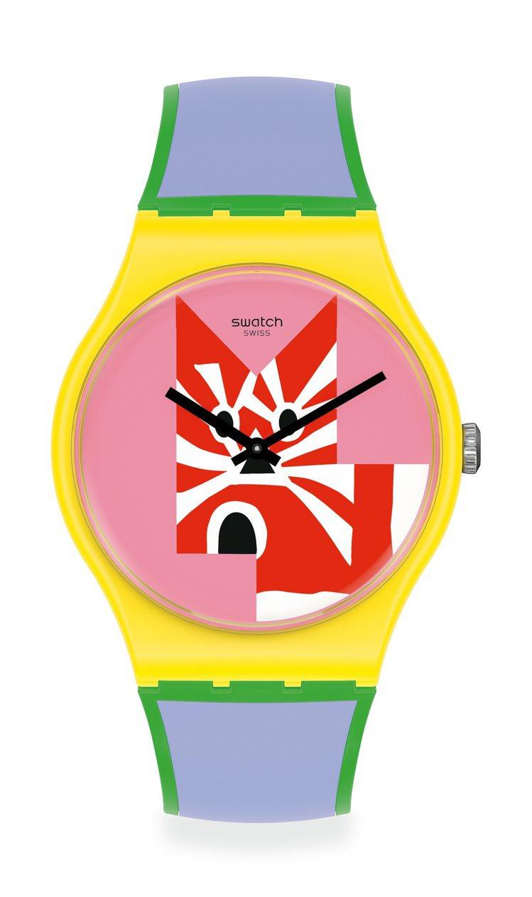SWATCH X TATHAM & O'SULLIVAN藝術家特別款系列腕表(貓...
