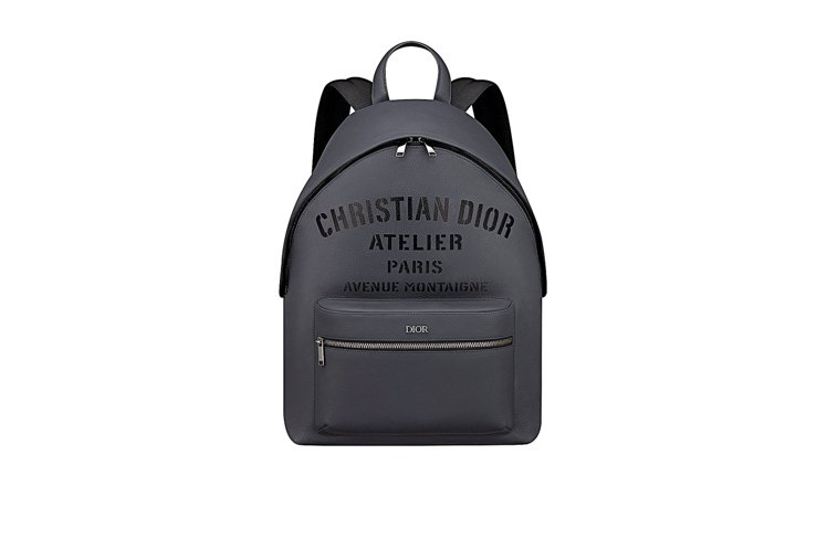 Christian Dior Atelier字樣灰色粒紋小牛皮後背包,86,00...