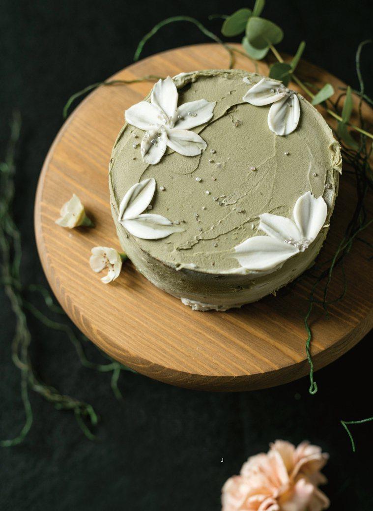 抹茶米戚風蛋糕。圖/台灣廣廈提供