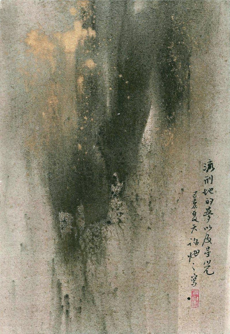 夢,以及星光,設色紙本,36x25cm,2019。(圖╱大觀藝術空間提供)
