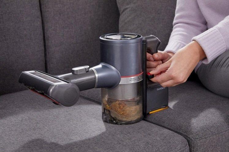 LG CordZeroThinQ A9 K系列首創輕壓集塵排空技術,增加2.4倍...