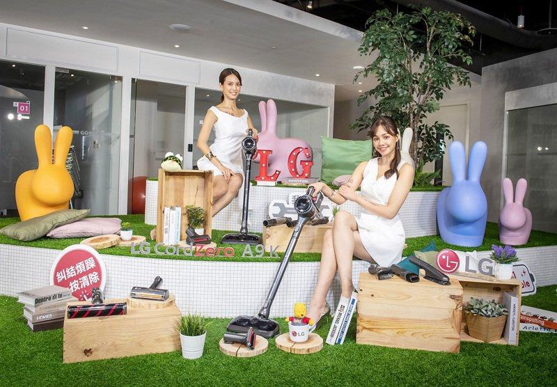 LG CordZeroThinQ A9 K系列WIFI濕拖無線吸塵器推出多達11款多功能吸頭,可輕鬆應對不同家庭環境。圖/LG提供