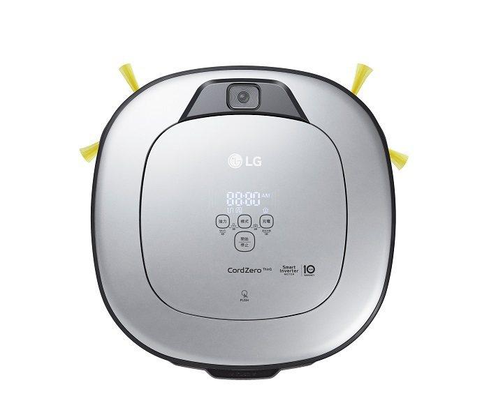 LG CordZero變頻清潔機器人-旗艦款三眼濕拖版鈦光銀新色,前方配備智慧鏡...