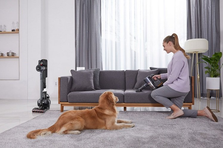 LG CordZeroThinQ A9 K系列WIFI濕拖無線吸塵器搭配毛髮專用...