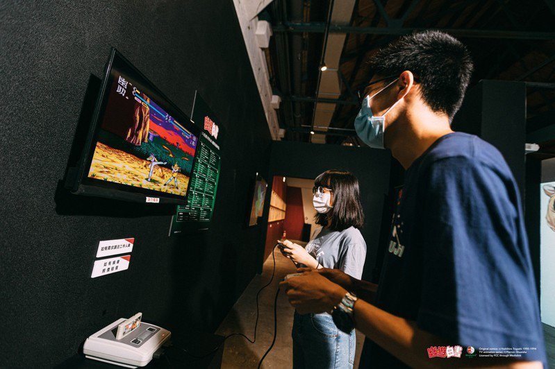 「幽☆遊☆白書」特展正於華山文創園區東2D展出中,兩人同行一人半價,還有電玩大賽最終回邀請各方好手來挑戰。圖/聯合數位文創提供