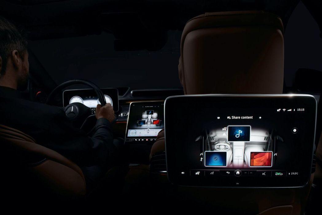 代號W223的大改款Mercedes-Benz S-Class,座艙內最多將有五...