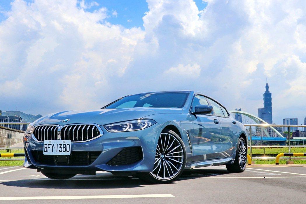 BMW 840i Gran Coupé M Sport。 記者陳威任/攝影