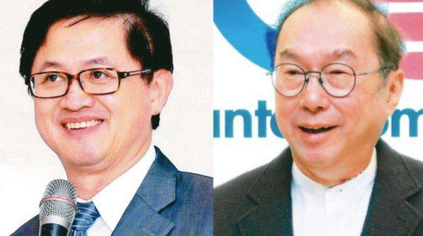 和碩董事長童子賢(圖左)與廣達董事長林百里(圖右)。 報系資料照