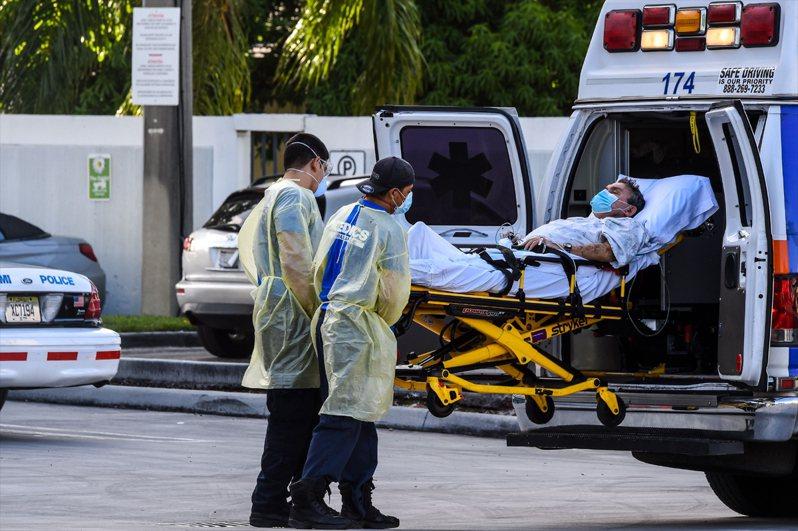 美國新冠肺炎疫情嚴重,已逾520萬人染疫。法新社