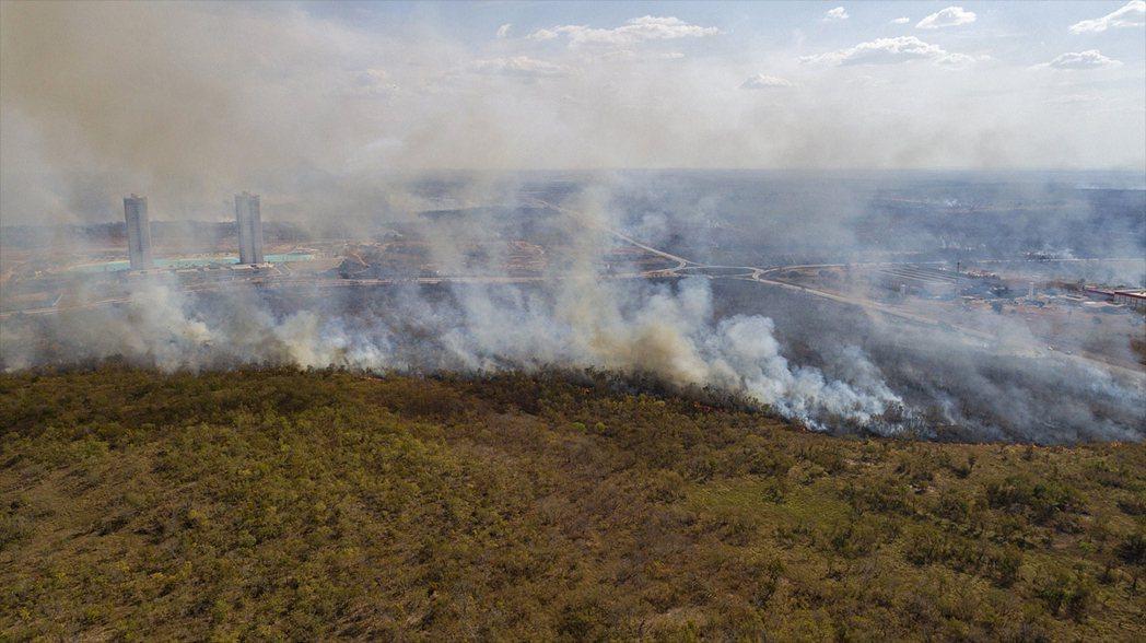 森林大火襲擊了巴西馬托格羅索州。歐新社