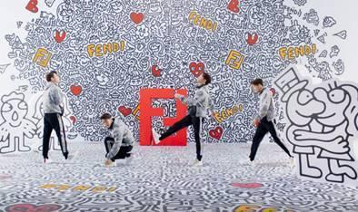 王嘉爾拍攝FENDI x Mr. Doodle系列影片。圖/截自FENDI X ...