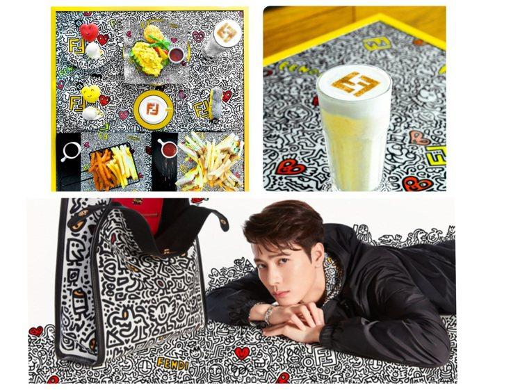 FENDI x Mr. Doodle系列是今年度七夕情人節主題。圖/FENDI提...