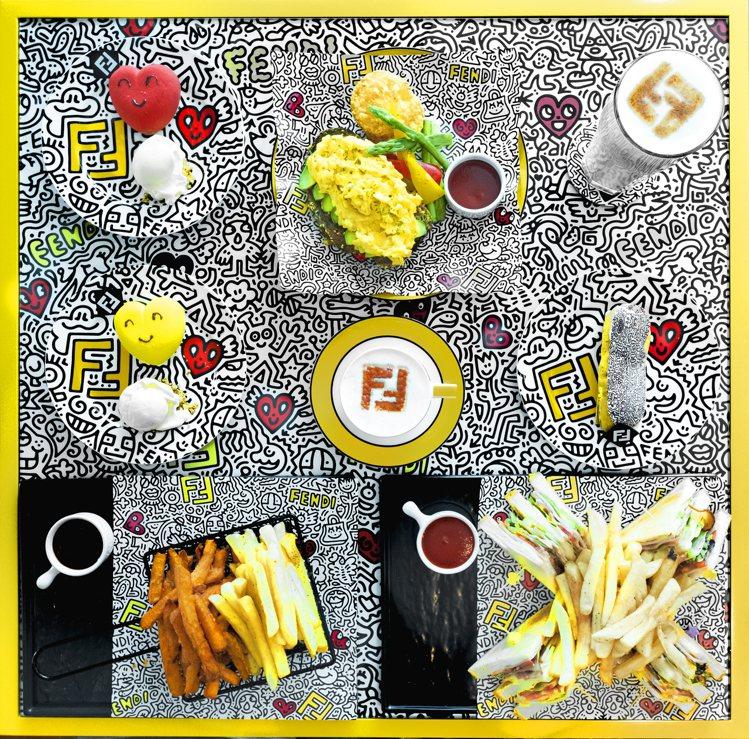 FENDI CAFFE快閃咖啡館推出妙趣酪梨紅心蛋三明治、甜蜜愛心蛋糕、閃電泡芙...