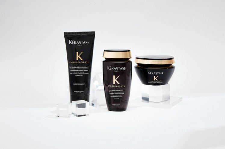KERASTASE巴黎卡詩推出黑鑽極萃逆時系列,對抗頭皮老化。圖/KERASTA...