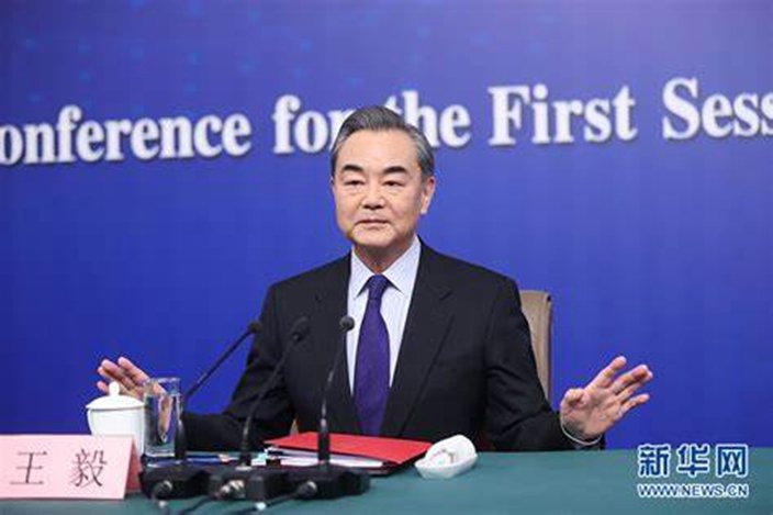 大陸國務委員兼外交部長王毅。圖/取自新華網