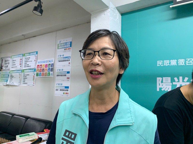 民眾黨組織部主任蔡壁如。聯合報系資料照片/記者徐如宜攝影