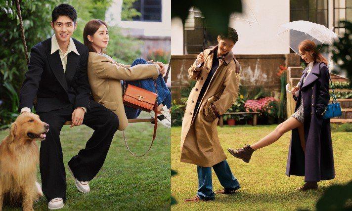 大陸女星劉詩詩與男星劉昊然合拍TOD'S早秋系列廣告。圖/迪生提供