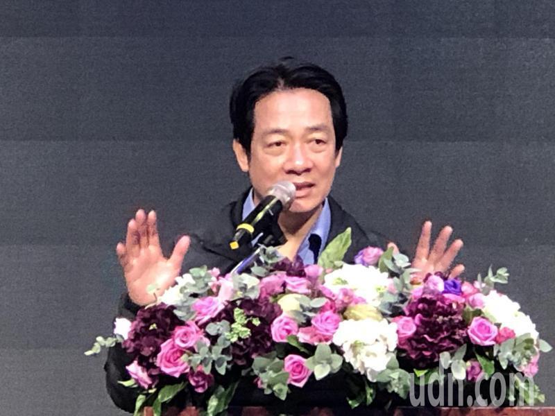 副總統賴清德説,有SARS經驗,台灣在這次疫情已是公衛強國。記者陳秋雲/攝影