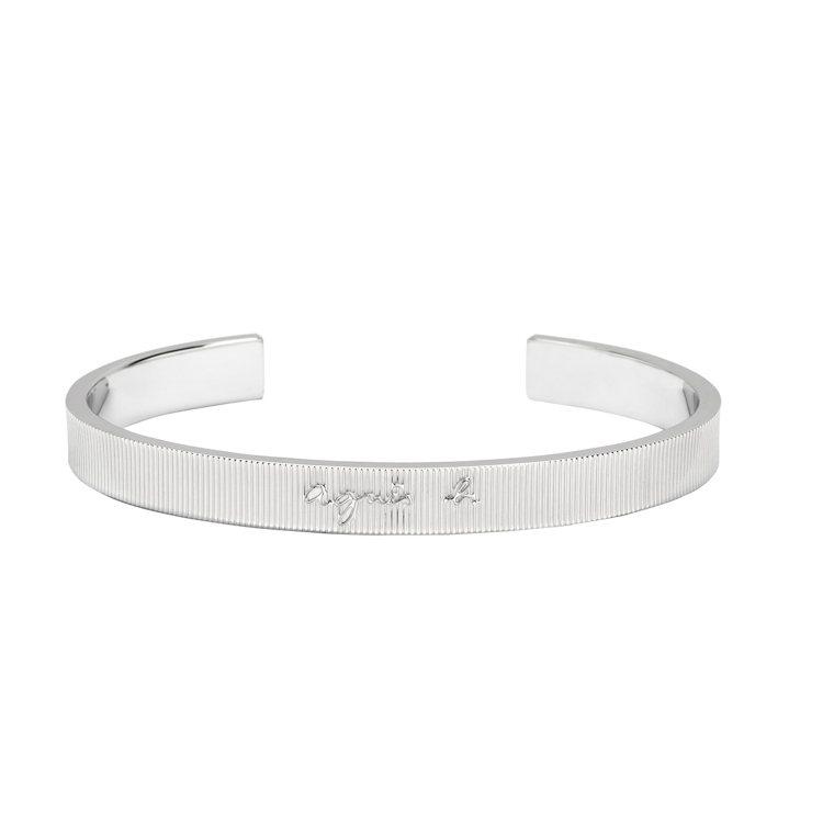 銀色質感情侶手環 (男款) ,3,280元。圖/agnès b.提供