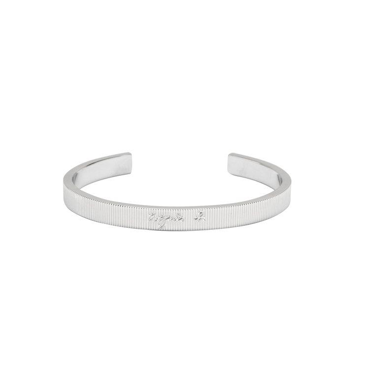 銀色質感情侶手環 (女款) ,3,280元。圖/agnès b.提供