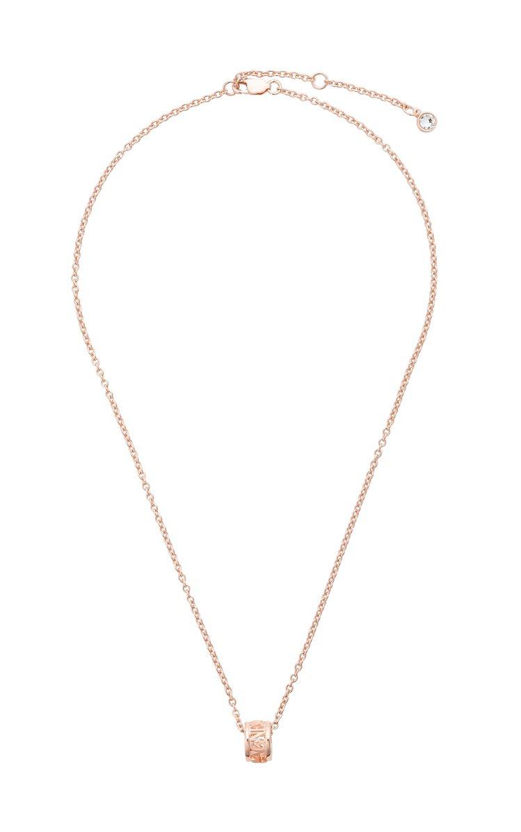 玫瑰金環狀鍊墜項鍊,6,980元。圖/agnès b.提供