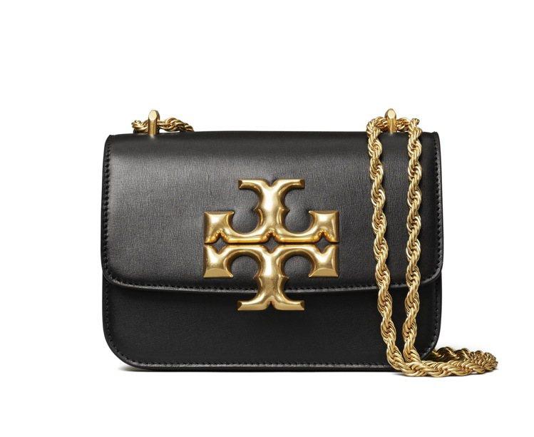 Eleanor系列黑色皮革鍊帶肩背包(小) , 25,900元。圖/Tory B...